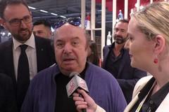 Lino Banfi, Gianmarco Tognazzi e Ornella Muti alla Fiera del Levante