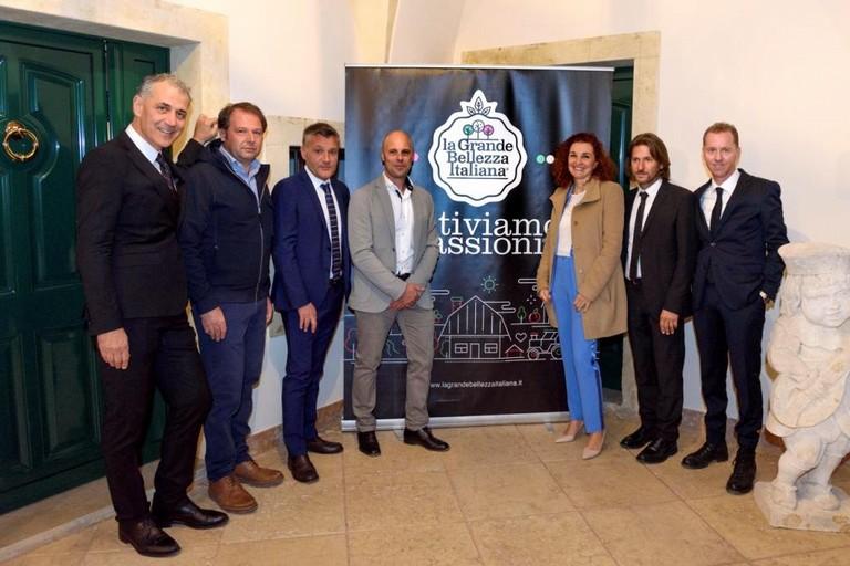 Da sinistra a destra, Eraldo Barale, Fabio Bergonzoni, Stefano Bighelli, Stefano Lonardi, Cristina Furiani, Leonardo Odorizzi, Antonio Cipriani_lr