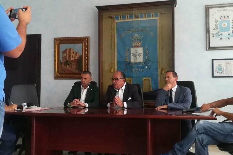 Conferenza stampa Sindaci Marrano, Puttilli e Di Feo