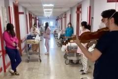 Il medico violinista suona la ninna nanna per i neonati del Policlinico