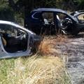 Cimitero di auto nel fiume Ofanto
