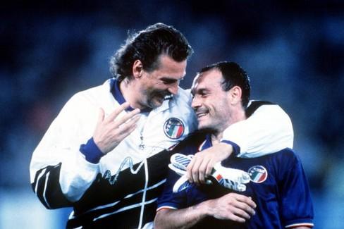 Stefano Tacconi e Salvatore Schillaci. <span>Foto Storiedicalcio</span>