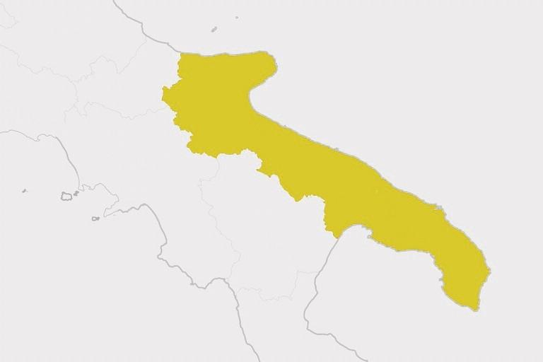 Puglia zona gialla